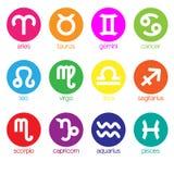 symbol för 12 zodiak Arkivfoto