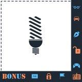 Symbol f?r ECO-energilampa framl?nges vektor illustrationer