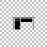 Symbol f?r kontorsskrivbord framl?nges stock illustrationer