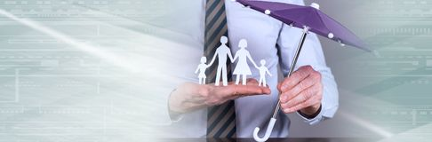 Concept of family protection royalty free stock photos