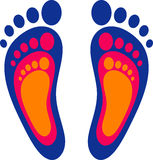 Symbol of the family: three footprints Royalty Free Stock Photo