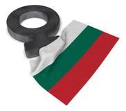 Symbol for feminine and flag of bulgaria Stock Photo