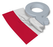 Symbol for feminine and flag of poland Royalty Free Stock Images