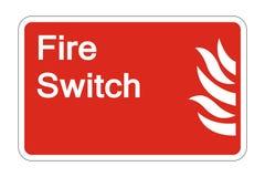 Symbol Feuer-Schalter-Sicherheits-Symbol-Zeichen auf weißem Hintergrund, Vektorillustration vektor abbildung