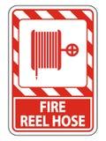 Symbol-Feuer-Spulen-Schlauch-Zeichen auf wei?em Hintergrund, Vektor llustration lizenzfreie abbildung