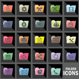 Symbol of File folder icons on computer Royalty Free Stock Photography