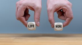 Symbol for finding the right balance between work and life. royalty free stock images