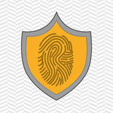 Symbol finger print data. Illustration eps 10 Royalty Free Stock Photography
