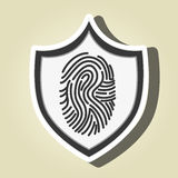 Symbol finger print data. Illustration eps 10 Royalty Free Stock Images