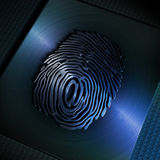 '@' symbol on fingerprint Royalty Free Stock Photography