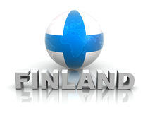 Symbol of Finland. 3d Very beautiful three-dimensional illustration Royalty Free Stock Photo