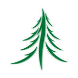 Symbol of fir-tree Royalty Free Stock Image