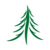 Symbol of fir-tree Royalty Free Stock Image