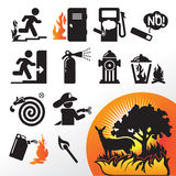 Symbol fire Stock Images