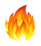 Symbol of fire Stock Photography