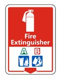 Symbol Symbol Fire Extinguisher A B Sign on white background,Vector illustration. Symbol Fire Extinguisher A B Sign on white background,Vector illustration royalty free illustration