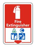 Symbol Symbol Fire Extinguisher A C Sign on white background,Vector illustration. Symbol Fire Extinguisher A C Sign on white background,Vector illustration royalty free illustration