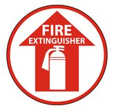 Symbol Fire Extinguisher Floor Sign on white background. Fire Extinguisher Floor Sign on white background stock illustration