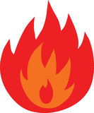Symbol of fire flames isolated Royalty Free Stock Photo
