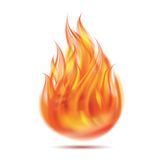 Symbol of fire. On white background. Vector illustration Stock Photos