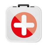 Symbol first aid kit icon. Illustration design Royalty Free Stock Photo
