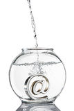 At symbol in fishbowl Royalty Free Stock Photo