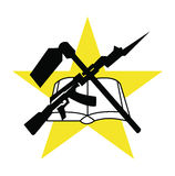 Symbol flag of Mozambique, vector illustration. Stock Photo