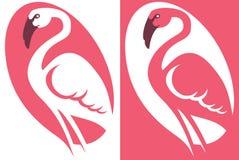 Symbol flamingo image. Stock Image