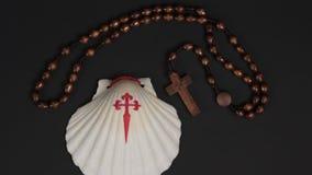 Symbol fo El Camino - Pilgrimage. Symbol of the Saint James road - pilgrimage in Spain, El camino Stock Images