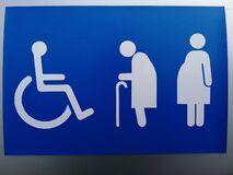 Free Symbol For The Disabled, The Elderly And Pregnant Women Stock Photography - 188000142