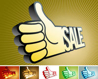 Symbol in the form of arms. Abstract symbol in the form of arms and the sale word Stock Image