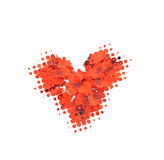 Symbol in the form of red heart Royalty Free Stock Photography