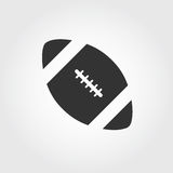 Symbol för amerikansk fotboll, lägenhetdesign Arkivbilder
