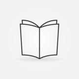 Symbol för boköversiktsvektor Fotografering för Bildbyråer