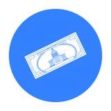 Symbol för dollarräkning i svart stil som isoleras på vit bakgrund Illustration för vektor för materiel för USA landssymbol Royaltyfri Fotografi