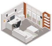 Symbol för funktionsdugligt rum för vektor isometrisk Fotografering för Bildbyråer