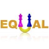 Symbol för jämställdheten mellan mannen och kvinnan Arkivfoton