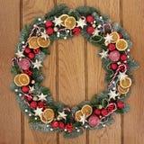 Symbol för julkransvälkomnande Royaltyfri Fotografi