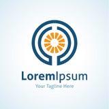 Symbol för logo för affär för energimaktinnovation Arkivfoto