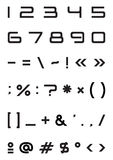 symbol för tecken för alfabetstilsortsnummer strängt Royaltyfria Bilder