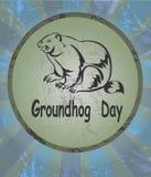 Symbol för vektorillustrationmurmeldjur Groundhog dag Arkivbild