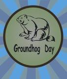 Symbol för vektorillustrationmurmeldjur Groundhog dag Arkivfoto