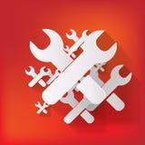 Symbol för vektorreparationsrengöringsduk Royaltyfria Bilder
