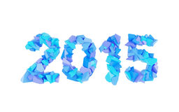 2015 symbol. Of fragments on white background Stock Image