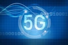 symbol 5G på digital bakgrund Arkivfoton