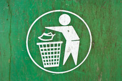 Symbol of a garbage dump. Royalty Free Stock Images