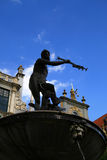 Symbol of Gdansk. Neptune statue Royalty Free Stock Images