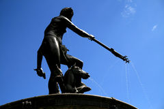 Symbol of Gdansk. Neptune statue Stock Photo
