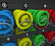 Symbol geistiges Eigentums-Automaten-Copyright-eingetragenen Warenzeichens Lizenzfreie Stockfotografie