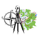 Symbol for geodesy and cartography Royalty Free Stock Photography
